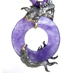 Amy Kahn Russell Jewelry - Amy Kahn Russell Dragon Pendant Beaded Necklace